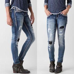 Rock Revival Sun Skinny Jeans Size 28